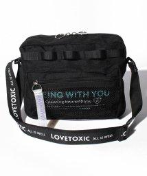 Lovetoxic/メッシュポケットロゴショルダーバッグ/503179735
