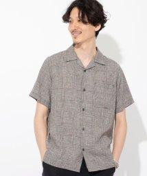 coen/ヘンプチェックオープンカラーシャツ/503186184