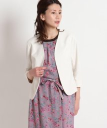 SunaUna/【洗える】7分袖ノーカラージャケット/503187612