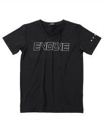 GLAZOS/エステルスムース・リフレクトロゴVネック半袖Tシャツ/503187867