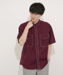 SENSE OF PLACE by URBAN RESEARCH/ステッチアウトCPOシャツ(5分袖)/503130572