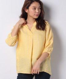CARA O CRUZ/【PAGANINI】ストライプ柄スキッパーシャツ/503135732