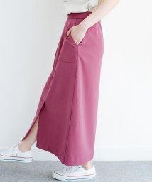 haco!/カジュアルにもきれいめにも着られて便利 スリットが女っぽいセミタイトスカート/503168285