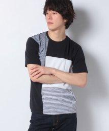MARUKAWA/ブロック 切替 クルーネック 半袖 Tシャツ/503168475