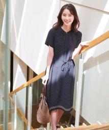 J.PRESS LADIES(LARGE SIZE)/【洗える】PANEL DOTS ワンピース/503191104