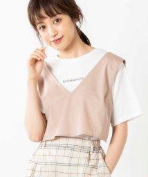 WEGO/WEGO/【2点セット】チノビスチェセットTシャツ/503009894