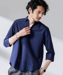 nano・universe/FLOW LINEN スキッパーシャツ 7分袖/503095718
