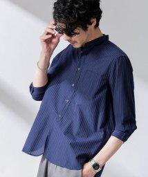 nano・universe/FLOW LINEN バンドカラーシャツ7分袖/503095719