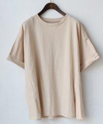 REAL CUBE/袖ロールアップ英字ロゴデザインTシャツ/503175191