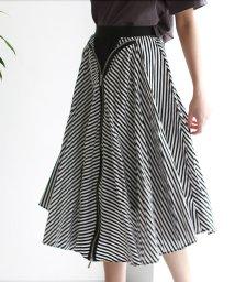 REAL CUBE/ZIPデザインストライプスカート/503179563