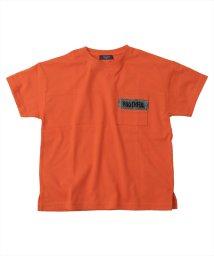 GLAZOS/天竺・ドロップショルダーメッシュポケット半袖Tシャツ/503187870