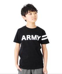 GLAZOS/天竺・ARMYロゴプリント半袖Tシャツ/503187872