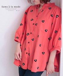 Sawa a la mode/小花刺繍のコットンシャツトップス/503191889