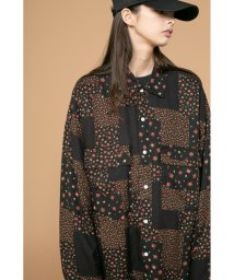 monkey time/<monkey time> FLOWER PTC PRINT OVER SIZED RE/シャツ/503192668