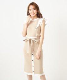 MIIA/【セットアップ対応商品】フロントボタンバイカラータイトスカート/503193364