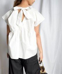 ARGO TOKYO/Back ribbon flare blouse 23055/503193860