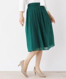 SOUP/【大きいサイズあり・13号・15号】9色から選べる!軽やかオーガンジー膝丈スカート/502981484