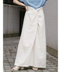Ungrid/シルクネップウエストデザインスカート/503095346