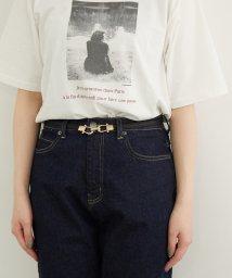 ROPE PICNIC PASSAGE/【一部店舗限定】合皮ビットバックル細ベルト/503170147