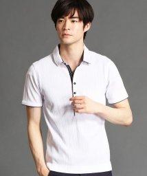 NICOLE CLUB FOR MEN/ランダムテレコシルケットポロシャツ/503175220