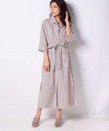 Spick & Span/LEYA ストライプシャツドレス/503177576