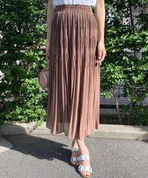 QUEENS COURT(LSIZE)/【大きいサイズ】マジョリカプリーツロングスカート/503191459