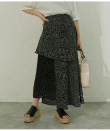 AULI/ドットプリーツスカート/503194026