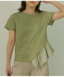AULI/アシンメトリーフリルTシャツ/503194027