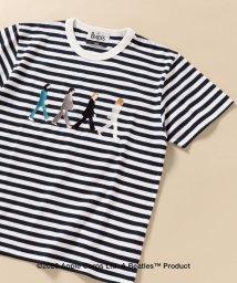 SHIPS MEN/SC: THE BEATLES エンブロイダリー ボーダー Tシャツ/503195696