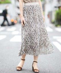 a.v.v/【洗える】パイソンプリントプリーツスカート/503086035