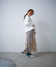 CIEL AIR/レースヘムラインギャザースカート/503190177