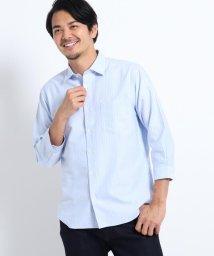 TAKEO KIKUCHI/ドビードット刺し子7分袖シャツ/503197628