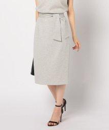 NOLLEY'S/麻調合繊リボンタイトスカート/503011210