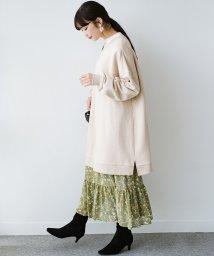 haco!/ふわっと揺れる裾にきゅん!とろみシフォンの大人可愛い花柄スカート/503180669
