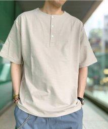 GLOSTER/ビッグシルエット ヘンリーネックTシャツ/503191303