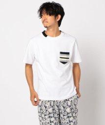 GLOSTER/ニットポケット切替えTシャツ/503191304