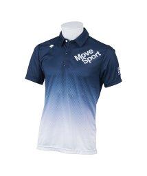 DESCENTE GOLF/【BLUE LABEL】【MOTION3D】グラデーション市松柄プリントリバースメッシュシャツ(20SS)/503192435