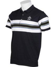 Munsingwear/パネルボーダー半袖ニットポロシャツ(20SS)/503192495
