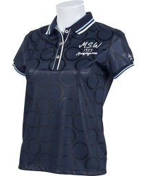 Munsingwear/【吸汗速乾】サークル柄光沢ジャカード半袖シャツ(20SS)/503192553