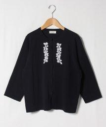 GUEST JOCONDE/【大きいサイズ】【アンサンブル対応】SONA ビーズ刺繍ニットカーディガン/503194515