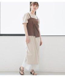 Avan Lily/リンクルワッシャービスチェ付きカットワンピース/503197954