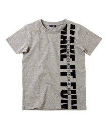GLAZOS/天竺・縦ロゴプリント半袖Tシャツ/503198314