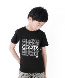 GLAZOS/天竺・抜きロゴプリント半袖Tシャツ/503198315