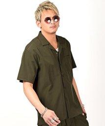 LUXSTYLE/サコッシュ付きストレッチセットアップ(開襟シャツ&ショートパンツ)/セットアップ メンズ シャツ ショートパンツ ストレッチ サコッシュ/503198990