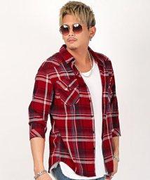 LUXSTYLE/7分袖先染めチェックシャツ/シャツ メンズ 7分袖 チェック柄 総柄 ウエスタンシャツ/503198999