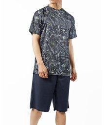 TopIsm/上下セットでパジャマにも最適!吸汗速乾クルーネック半袖Tシャツとショートパンツ/503199118