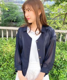 MISCH MASCH/抜き衿シアーシャツブラウス/503144775