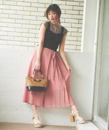 31 Sons de mode/スカート見えプリーツワイドパンツ/503178103