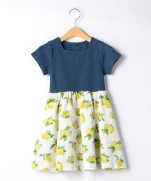 green label relaxing (Kids)/【キッズ】ワッフル×レモンプリントワンピース/503183909
