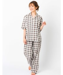 fran de lingerie/cotton-me天然繊維100%パジャマシャツセットアップ(ギンガムチェック・パイナップル)/503194435